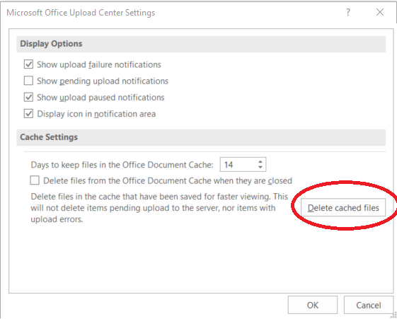 Clearing the Office Upload Center Cache to Fix SharePoint