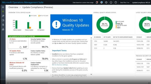 Windows Analytics - Update Compliance - risual