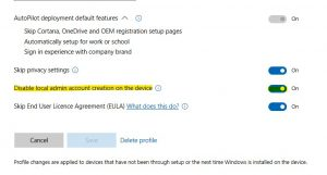 Managing Local Admins with Intune Azure AD Join devices - risual